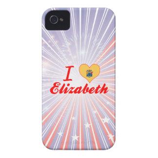 Amo a Elizabeth, New Jersey Case-Mate iPhone 4 Carcasas