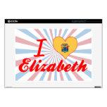 Amo a Elizabeth, New Jersey Portátil 38,1cm Skins