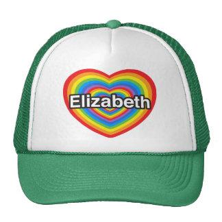 Amo a Elizabeth. Te amo Elizabeth. Corazón Gorras De Camionero
