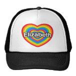 Amo a Elizabeth. Te amo Elizabeth. Corazón Gorro