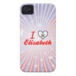 Amo a Elizabeth, Virginia Occidental iPhone 4 Case-Mate Carcasa