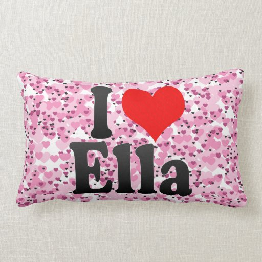 Amo a Ella Cojines