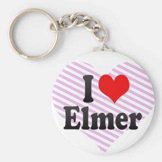 Amo a Elmer Llavero Redondo Tipo Pin