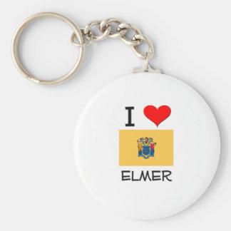Amo a Elmer New Jersey Llavero Redondo Tipo Pin