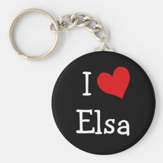 Amo a Elsa Llaveros Personalizados