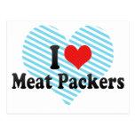 Amo a embaladores de la carne tarjetas postales