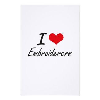Amo a Embroiderers Papelería