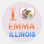 Amo a Emma, IL Pegatina Redonda