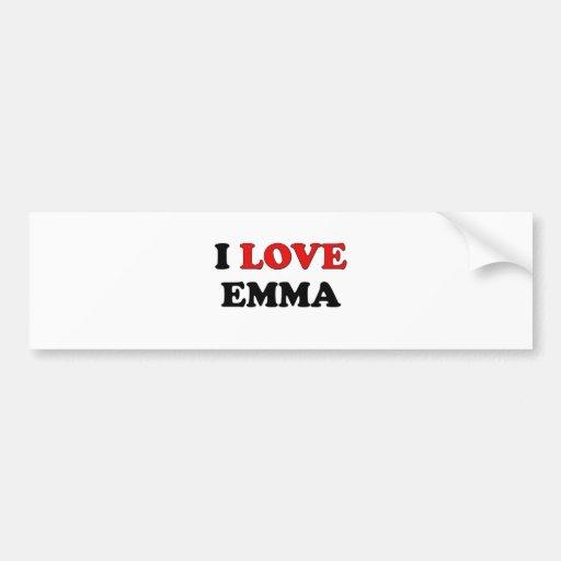 Amo a Emma Pegatina De Parachoque