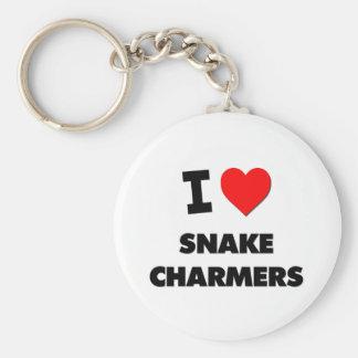 Amo a encantadores de serpiente llavero personalizado