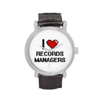 Amo a encargados de expedientes relojes