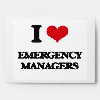 Amo a encargados de la emergencia