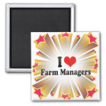 Amo a encargados de la granja iman de nevera