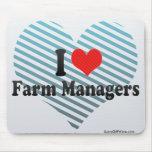 Amo a encargados de la granja tapetes de ratones