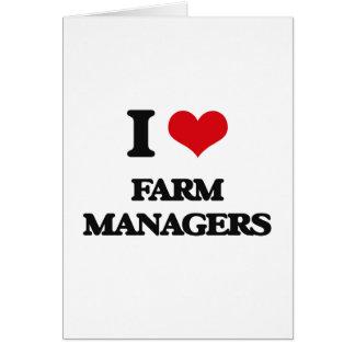 Amo a encargados de la granja tarjeta