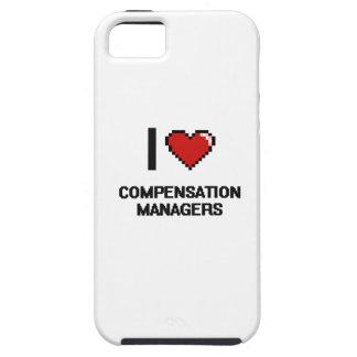 Amo a encargados de la remuneración iPhone 5 carcasas
