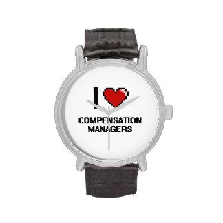 Amo a encargados de la remuneración reloj de mano