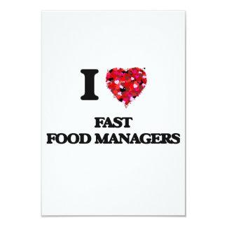 Amo a encargados de los alimentos de preparación invitación 8,9 x 12,7 cm