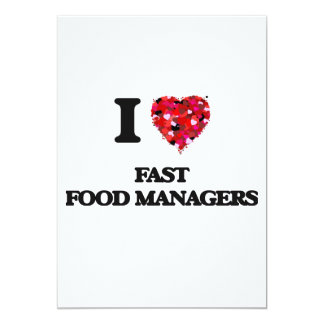 Amo a encargados de los alimentos de preparación invitación 12,7 x 17,8 cm