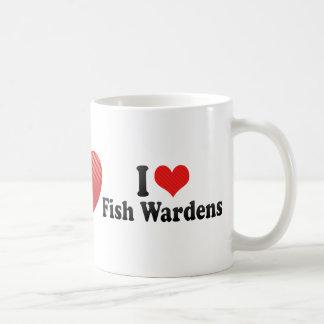 Amo a encargados de los pescados taza