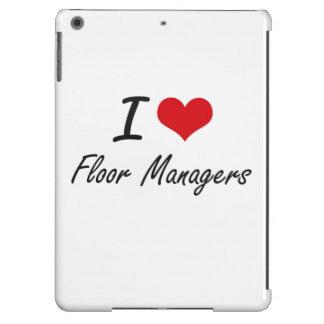 Amo a encargados de piso funda para iPad air