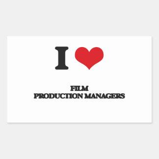 Amo a encargados de producción de la película rectangular altavoz