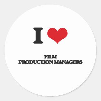 Amo a encargados de producción de la película pegatinas redondas
