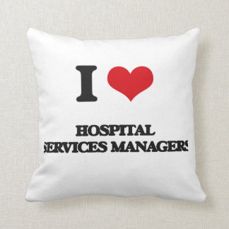 Amo a encargados de servicios del hospital cojines