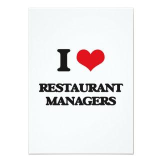 Amo a encargados del restaurante invitación 12,7 x 17,8 cm