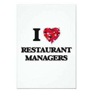 Amo a encargados del restaurante invitación 8,9 x 12,7 cm
