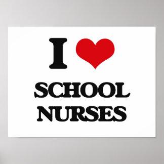 Amo a enfermeras de la escuela posters