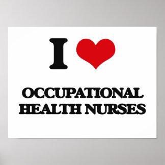 Amo a enfermeras de medicina del trabajo impresiones