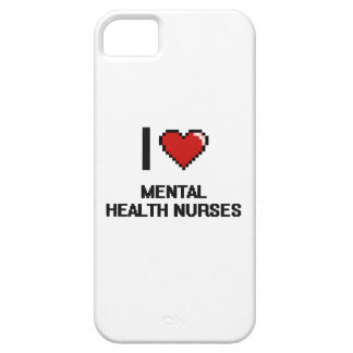 Amo a enfermeras de salud mental iPhone 5 funda