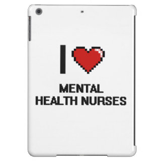 Amo a enfermeras de salud mental funda para iPad air