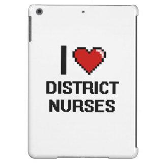 Amo a enfermeras del distrito funda para iPad air
