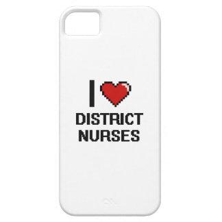 Amo a enfermeras del distrito iPhone 5 carcasas