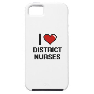 Amo a enfermeras del distrito iPhone 5 carcasa
