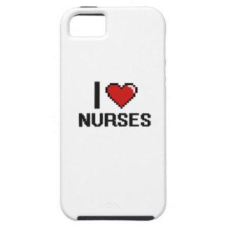 Amo a enfermeras iPhone 5 carcasa