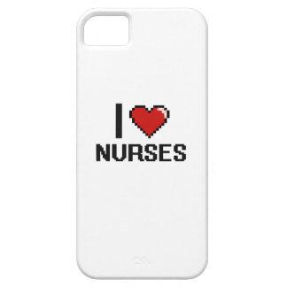Amo a enfermeras iPhone 5 fundas