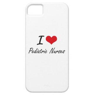 Amo a enfermeras pediátricas iPhone 5 funda