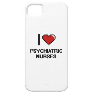 Amo a enfermeras psiquiátricas iPhone 5 carcasa