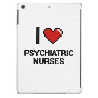 Amo a enfermeras psiquiátricas funda para iPad air