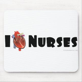 Amo a enfermeras tapete de ratón