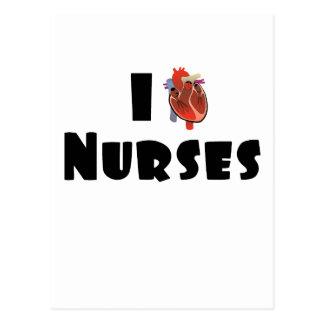 Amo a enfermeras postales