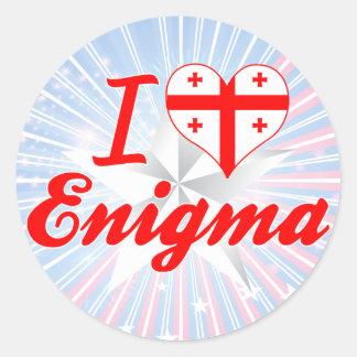 Amo a Enigma Georgia Etiqueta Redonda