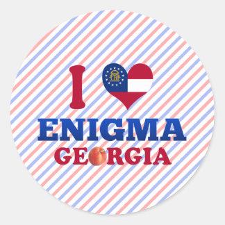 Amo a Enigma Georgia Pegatinas Redondas