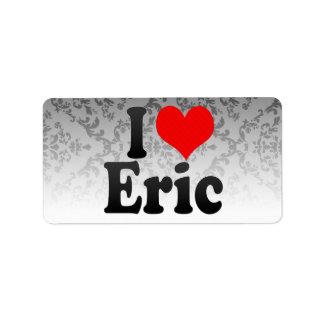 Amo a Eric Etiquetas De Dirección