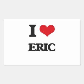 Amo a Eric Pegatina Rectangular