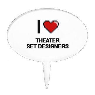 Amo a escenógrafos del teatro decoración de tarta