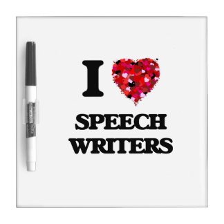 Amo a escritores de discurso tableros blancos